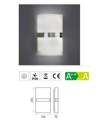 Características Aplique bombilla 2L E14 Milano - ACB