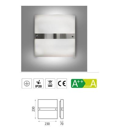 Características: Aplique bombilla 2L E14 Archer - ACB