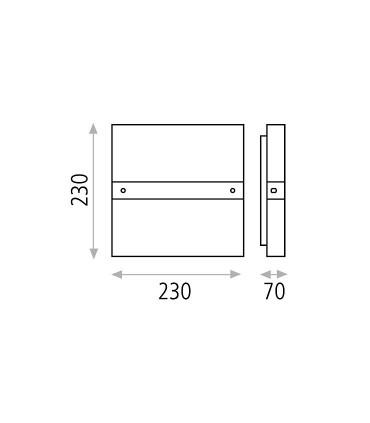 Dimensiones: Aplique bombilla 2L E14 Archer - ACB