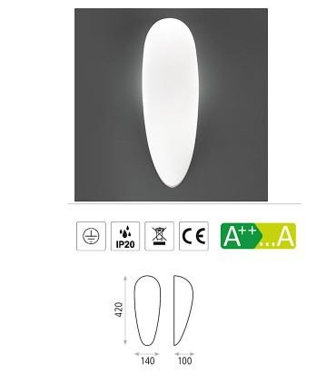 Características: aplique bombilla E27 Dora - ACB