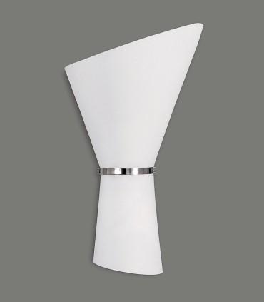 Aplique 2 bombillas E27 Perla cromo - ACB