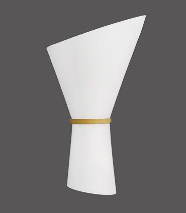Aplique 2 bombillas E27 Perla oro técnico - ACB
