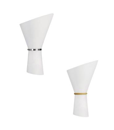 Aplique 2 bombillas E27 Perla cromo, oro - ACB