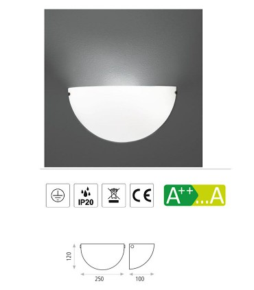 Características Aplique bombilla E27 Dina - ACB