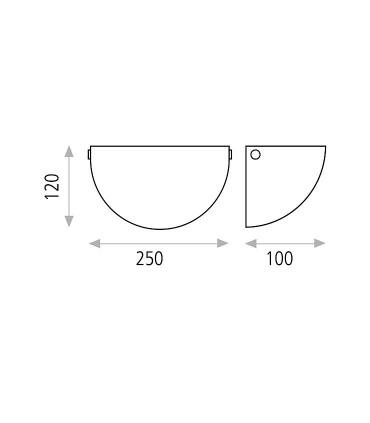Dimensiones: Aplique bombilla E27 Dina - ACB