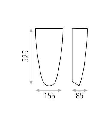 Dimensiones: Aplique bombilla E27 Gilda - ACB