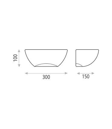 Dimensiones del Aplique de cemento Ankara antracita - ACB