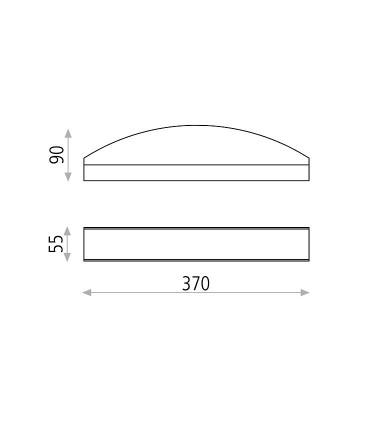 Dimensiones Irene, Aplique LED 12W 3000K Blanco - ACB