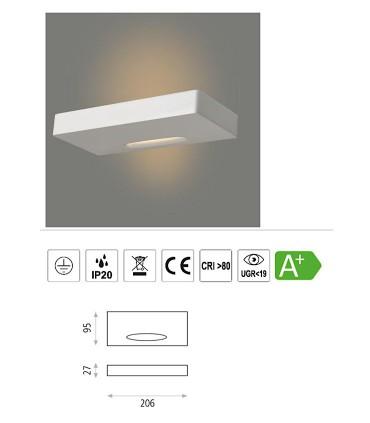 Características Air, Aplique LED 9.2W 3000K Blanco - ACB