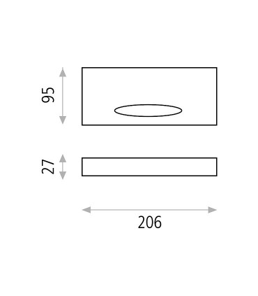 Dimensiones Air, Aplique LED 9.2W 3000K Blanco - ACB