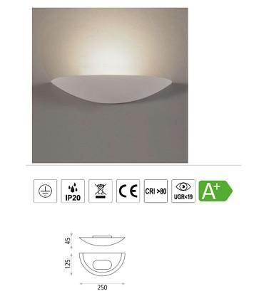 Características Buton, Aplique LED 12W 3000K Blanco - ACB