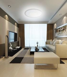Plafón ZERO 55W 55cm regulable, 3673, imagen de ambiente en salón