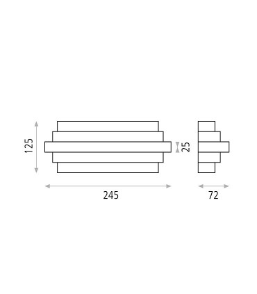 Dimensiones Oris, Aplique LED 23.5W 3000K Blanco - ACB
