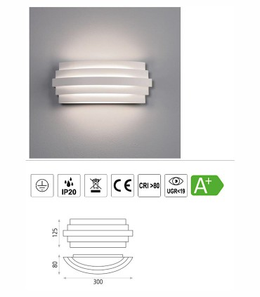 Características del aplique de pared LED Luxur de ACB