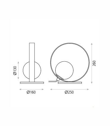 Dimensiones Sobremesa HALO de ACB
