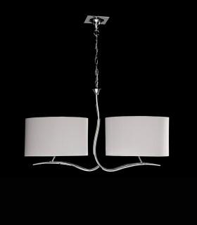 Lámpara EVE cromo 2 pantallas ovaladas blanco ref.1130 de Mantra