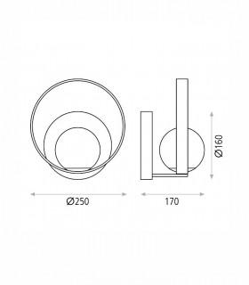 Dimensiones aplique Halo LED de ACB