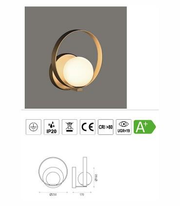 Características aplique Halo LED de ACB
