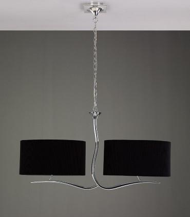 Lámpara EVE cromo 2 pantallas ovaladas negras ref.1170 de Mantra