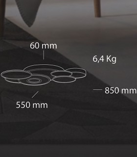 Dimensiones Plafón Belinus LED 98W Blanco Smart - Kelektron
