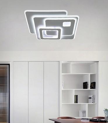 Plafón Retro LED Blanco c/mando 90W - Kelektron