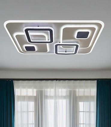 Plafón Retro LED Blanco-café Smart 180W - Kelektron