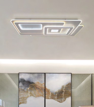 Plafón Retro LED Blanco Smart 200W - Kelektron