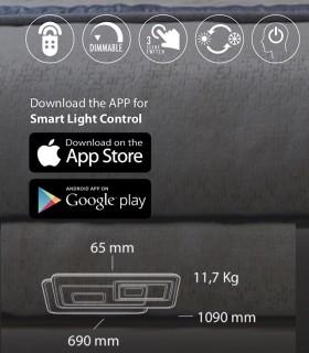 Características Plafón Retro LED Blanco Smart 200W - Kelektron