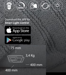 Características Plafón Retro LED Blanco Smart 75W - Kelektron