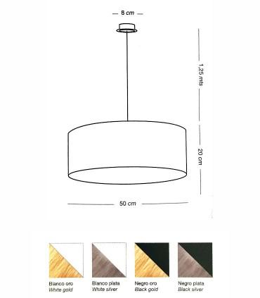 Dimensiones y acabados Lámpara colgante WIRE E27 5718 - ILUSORIA