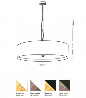 Medidas Lámpara colgante grande WIRE LED 36W - ILUSORIA