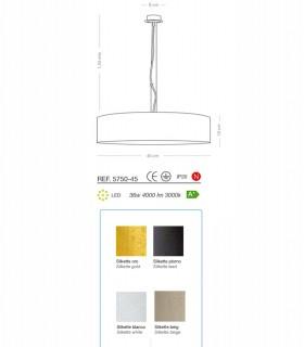 Lámpara colgante SILKETTE LED Ø45 36W - ILUSORIA