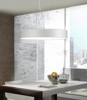 Lámpara colgante SILKETTE LED blanco Ø45 36W - ILUSORIA