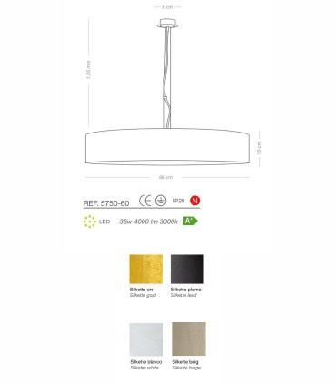 Características Lámpara colgante SILKETTE LED Ø60 36W - ILUSORIA