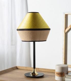 Lámpara de mesa TOSSA saco Oro combinado con metal Negro-oro - ILUSORIA
