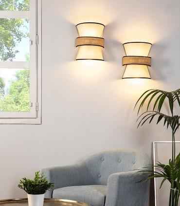 Aplique de pared TOSSA 2 luces E27 - ILUSORIA