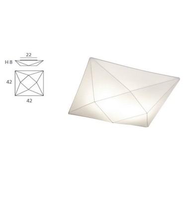 Dimensiones Plafón de Tela Polaris 42cm - Ole