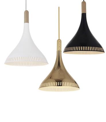 Colgantes ND24 metal negro, blanco, oro Ø30cm E27