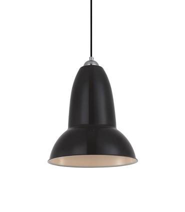 Colgante ND25 metal negro,  Ø25cm E27