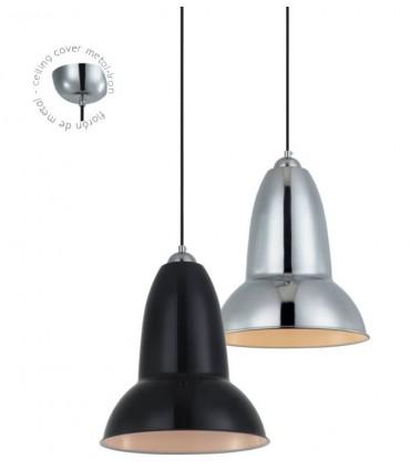 Colgante ND25 metal negro o cromo Ø25cm E27