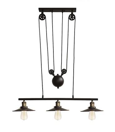 Lámpara CONTRAPESO ND26 negro-latón 78cm 3L E27