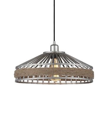 Lámpara colgante ND27 gris-cuerda Ø40cm 27
