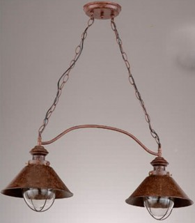 Lámpara de techo NAUTIC 2 luces marrón