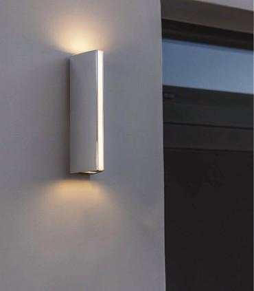 Aplique Led Cromo 14W Aluminio. Imagen de fachada.