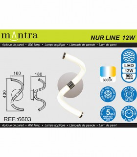 Aplique Led 12w NUR LINE 6603 de Mantra
