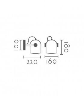 Dimensiones Aplique pared nórdico ND11 metal blanco E27