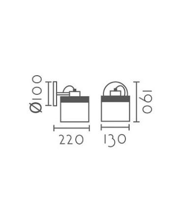 Dimensiones Aplique pared nórdico ND5 metal blanco Ø13cm E27