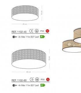 Características Plafones de techo pantalla ENEA E27 - ILUSORIA