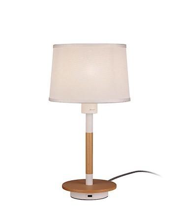 Lámpara de Sobremesa NÓRDICA Con USB 5464 Mantra