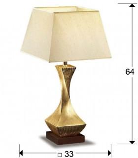 Dimensiones Sobremesa DECO oro pequeña 1 luz - Schuller